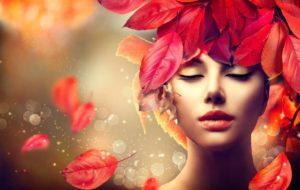 φύλλα στα μαλλιά